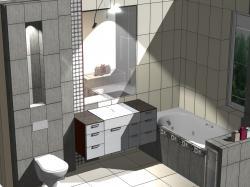 Meble łazienkowe dopasowane do płytek