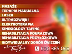 Mobilny gabinet masażu i rehabilitacji - Nowa Sól