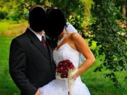 Modna Suknia Ślubna biała, krótko długa roz.38, mała 40