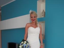 Muślinowa suknia ślubna r.36