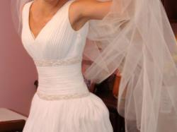 muślinowa,zwiewna suknia typu greczynka