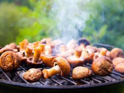 Nadziewane pieczarki z grilla
