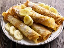 Naleśniki z bananami i kajmakiem