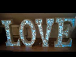 Napis Led LOVE ażurowe