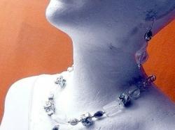 Naszyjnik i kolczyki ze szkła weneckiego. Ręczna robota, jedyny egzemplarz