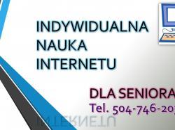 Nauka obsługi komputera dla seniora, tel. 504-746-203. Wrocław. Kurs dla seniorów, komputer dla seniora, cena, program, szkolenie