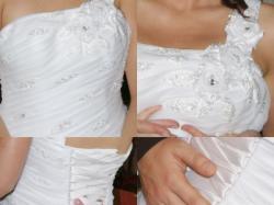 Niepowtarzalna, ekskluzywna suknia ślubna z długim trenem+kryształy Swarovskiego