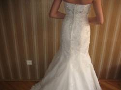 Niepowtarzalna, pięknie zdobiona suknia, model Rybka