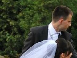 Niepowtarzalna śliczna biała suknia ślubna rozm.36-38 jak Demetrios 3098