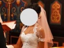 Niepowtarzalna suknia ślubna biała r. 36