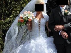 Niepowtarzalna suknia ślubna + dodatki. Cena do uzgodnienia!