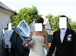 Niepowtarzalna suknia ślubna!!! Kolor ecru. Rozmiar 34 - 38. POLECAM!!!