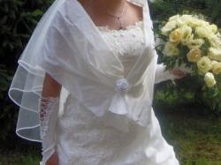 Niepowtarzalna suknia ślubna. Polecam