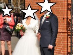 Niepowtarzalna suknia ślubna rozm. 34