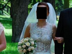 Niepowtarzalna suknia ślubna rozm. 38 - OKAZJA ! ! !