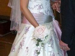 niepowtarzalna suknia+welon+hallka+koszyk na słodkości dla gości lub kwiatki