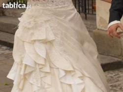 Niesamowita i orginalna suknia ślubna.