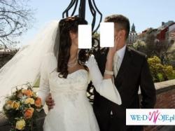Niesamowita suknia ślubna (gratis etola i długi welon)