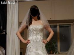 Niesamowita suknia ślubna klasyczna bogata vintage