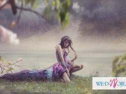 """Nietypowa suknia ślubna, balowa lub wieczorowa """"Viola arvensis"""""""