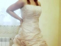 Niezwykła suknia ślubna k. Shampagne, r.38