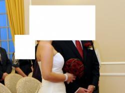 Niezwykle elegancka suknia ślubna w kolorze ecru