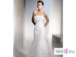 Niezwykle kobieca hiszpańska suknia ślubna - polecam!!