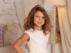 Niezwykle oryginalna, nietuzinkowa suknia dziewczęca  wizytowa - Gloria w rozmiarach 98-158