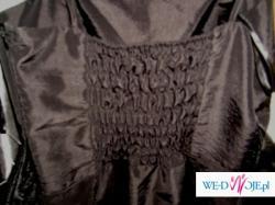 Nowa czarna sukienka na studniówkę z kokardką! Prawdziwa OKAZJA! Tanio!