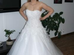 Nowa suknia ślubna agora model 11-10 swarovski rozmiar s 36