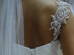 NOWA! suknia ślubna biała 38/40 rybka swarovsky