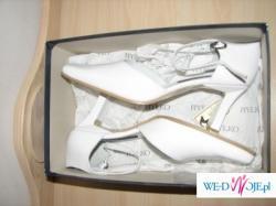 Nowe białe skórzane buty Ryłko