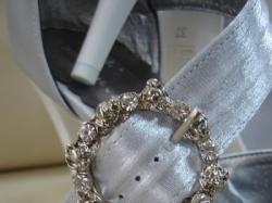 Nowe Buty!!! Atłas srebrny. Bardzo wygodne !!! r. 37
