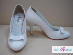 NOWE buty czółenka ślubne rozm 38 SKÓRA NATURALNA