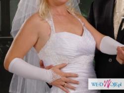 obcisła suknia ślubna biała