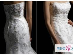 OBNIŻKA Niepowtarzalna, przepięknie ozdobiona suknia ślubna rybka