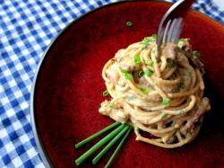 Odchudzone spaghetti carbonara - Kasia gotuje z Polki.pl