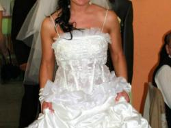 OKAZJA!!!Pięka śnieżnobiała suknia ślubna rozmiar 36-38w super cenie