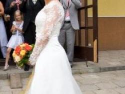 okazja piekna suknia slubna + bolerko+halka