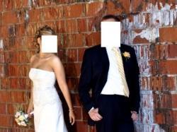 Okazja! Piękna suknia ślubna dla skromnej osoby.