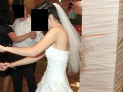 okazja piękna wyjątkowa suknia ślubna r.36