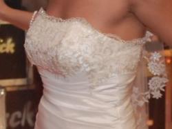 OKAZJA! Śliczna suknia ślubna na wzór Benjamin Roberts 930.Gratis WELON i HALKA.