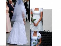 OKAZJA!! Suknia ślubna z bolerkiem i stroikiem do włosów GRATIS