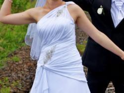 Oryginalna, delikatna suknia ślubna + gratisy