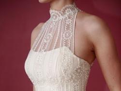 Oryginalna, elegancka suknia w kolorze ivory
