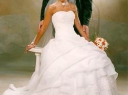 Oryginalna francuska suknia ślubna