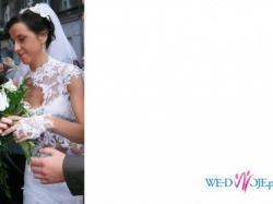 Oryginalna, niepowtarzalna suknia ślubna.