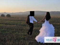 Oryginalna, piękna, biała jak nowa suknia ślubna 36/38