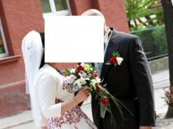 oryginalna piękna suknia ślubna kryształki