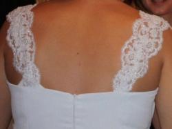 Oryginalna suknia biała rozm.40-42  wzrost 175cm + 5 cm obcas